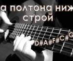 Как настроить гитару на полтона ниже?
