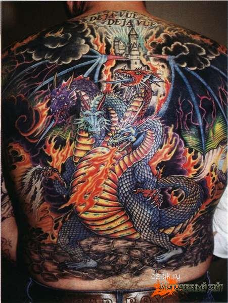 Татуировки дракона на спине