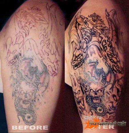 Татуировки дракона фото
