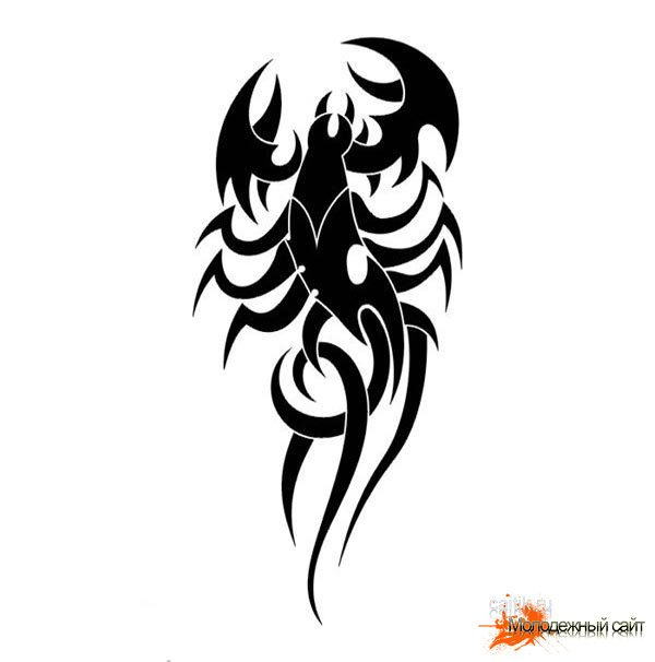 эскизы татуировки скорпион