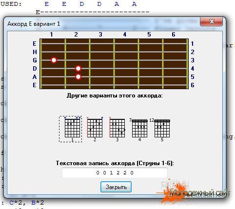 Скачать песенник гитарных аккордов