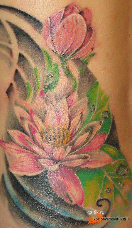 красивая татуировка лотос