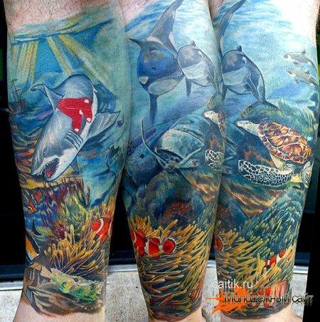 Татуировка акула