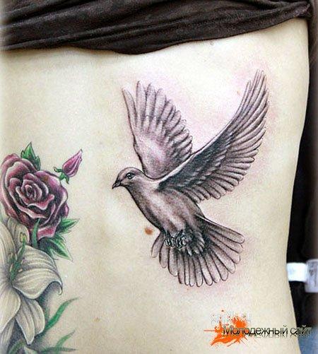 Татуировка голубь
