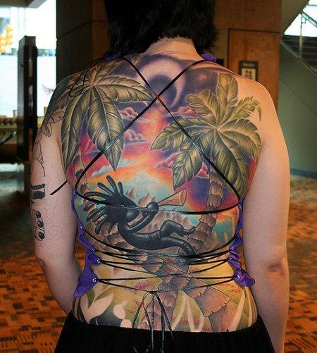 Татуировка Кокопелли
