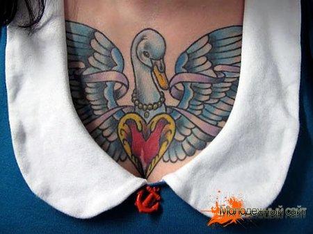 тату лебедь для девушек символизирует любовь