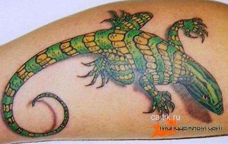 Татуировка ящерица