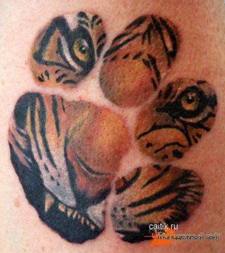 след тигра татуировка