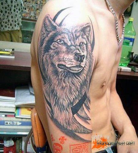 трайбл татуировка волка