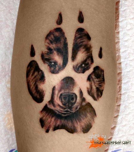татуировка волчий след