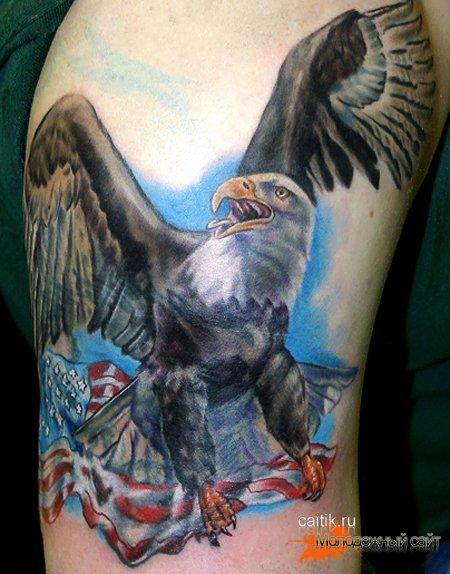 летящий орел татуировка