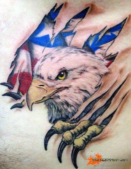 орел разрывающий плоть