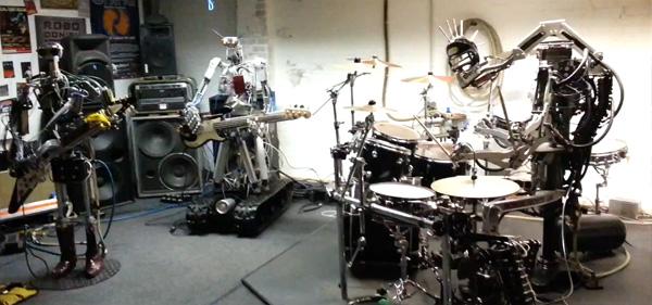 роботы-музыканты из группы Compressorhead