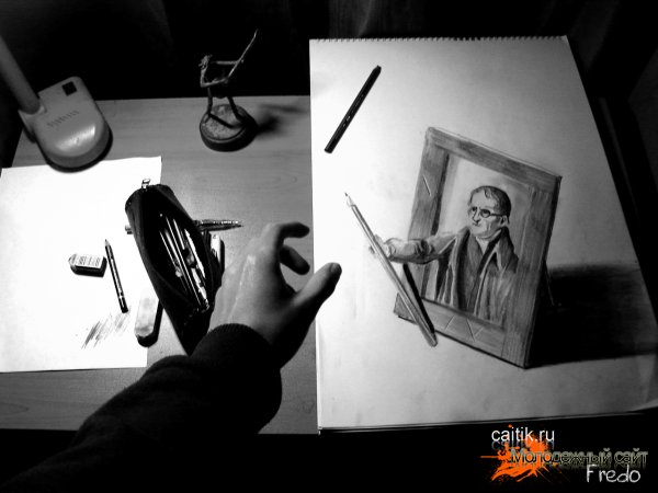 3D рисунки карандашом от Fredo