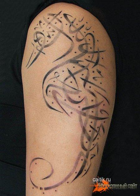 Татуировка морской конёк