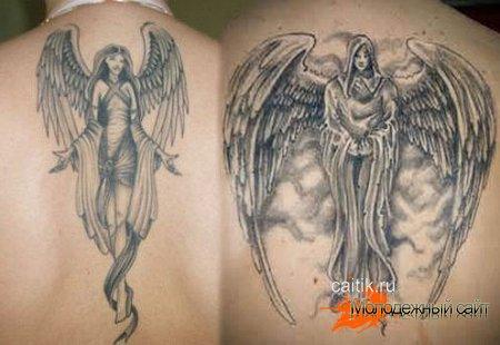 татуировки ангелы на спине