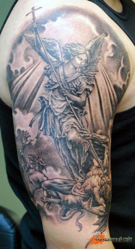 ангел пронзающий демона