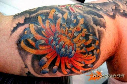 Татуировка хризантема