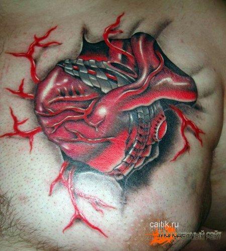 татуировка OLD SCHOOL сердце