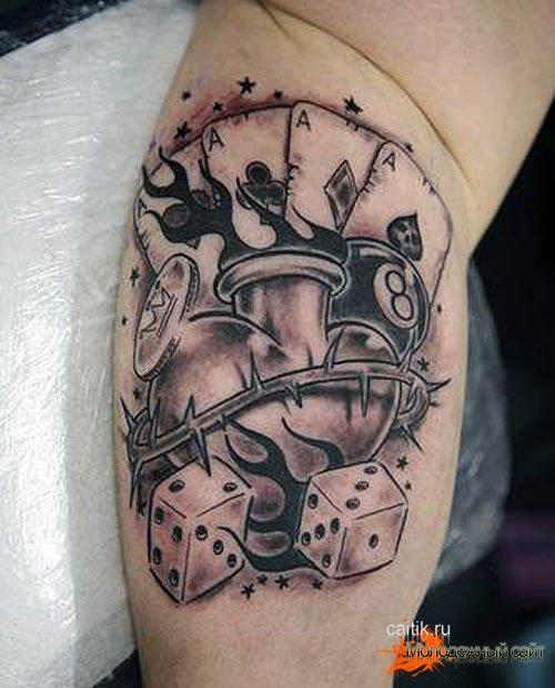 атрибуты азартных игр значение татуировок