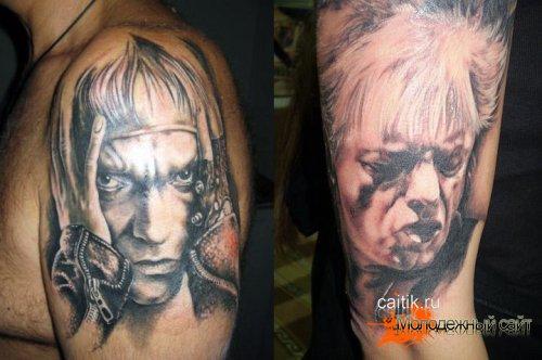 татуировки кинчева на плече