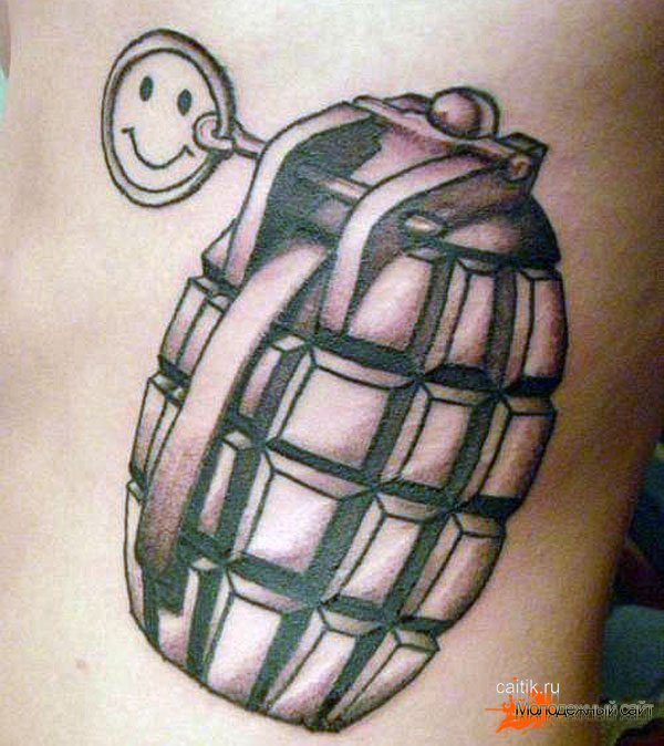 татуировка граната