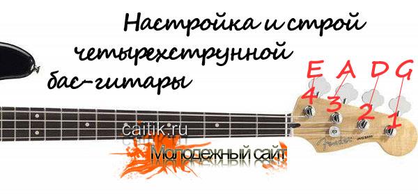 настройка и строй четырехструнной бас-гитры