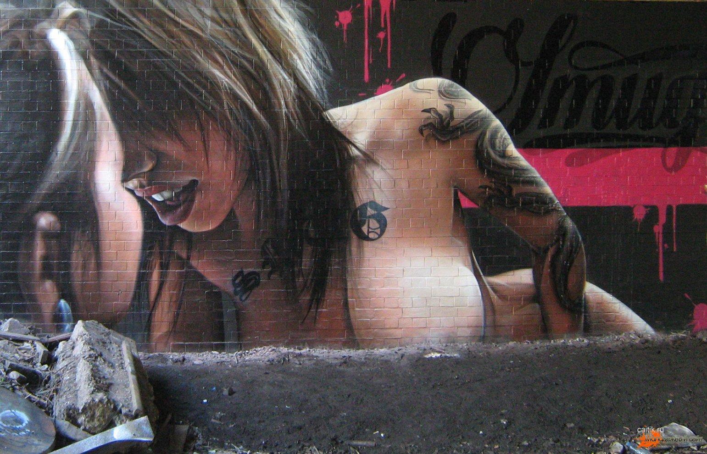 Стрит-арт на перилах