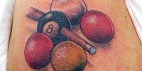 татуировка бильярдный шар