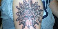 религиозная татуировка солнце