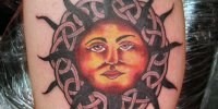 кельтская татуировка солнце