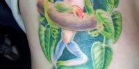 татуировка веселая лягушка