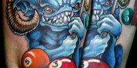 татуировки бильярдный шар
