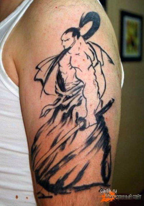 трайбл татуировка самурай
