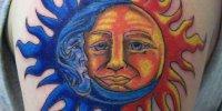 татуировка солнце с луной