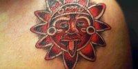 татуировка солнце мая