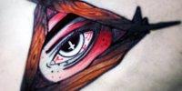 татуировка красным Всевидящее Око