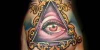 татуировка Всевидящее Око на кулаке