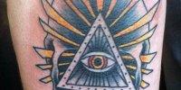 татуировка на локте Всевидящее Око