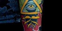 татуировка на руке Всевидящее Око