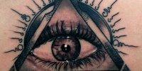 татуировка Всевидящее Око на спине