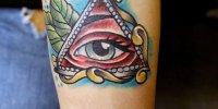 татуировка Всевидящее Око на руке