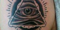 мужская татуировка Всевидящее Око на плече