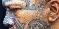 новозеландские татуировки Моку на лице