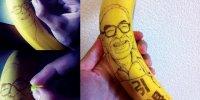 Рисунки на бананах от Дайсуке Скагами