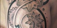 Дотворк стиль татуировки