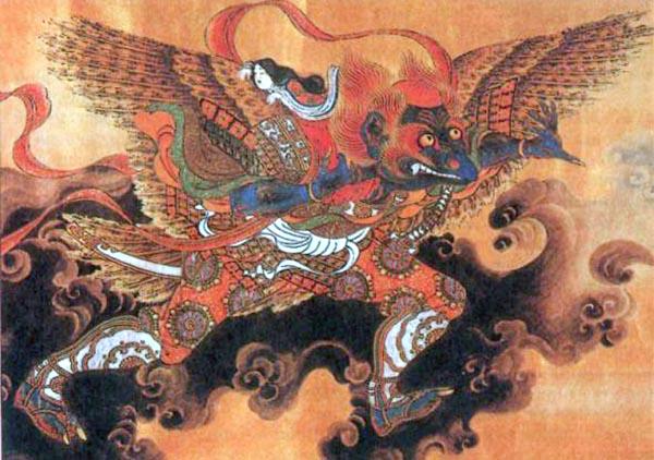 японские духи и демоны Тэнгу