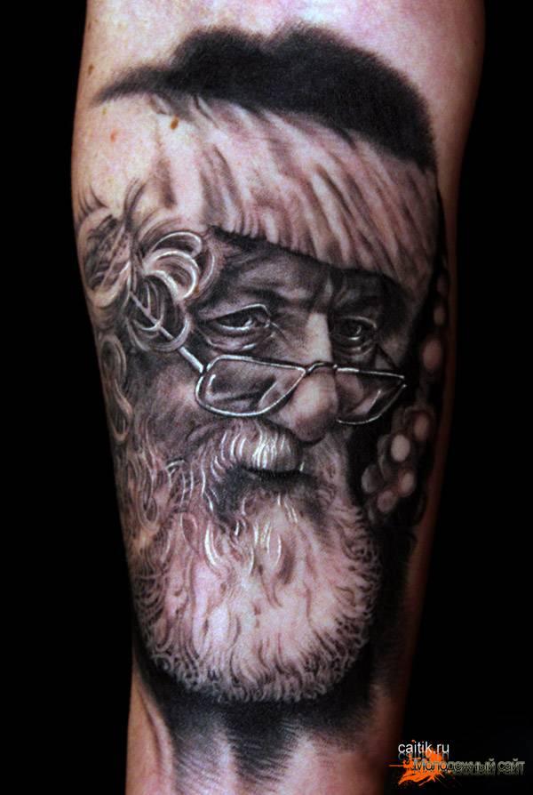Дед Мороз татуировка