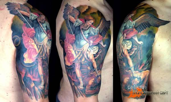 татуировка архангела Михаила