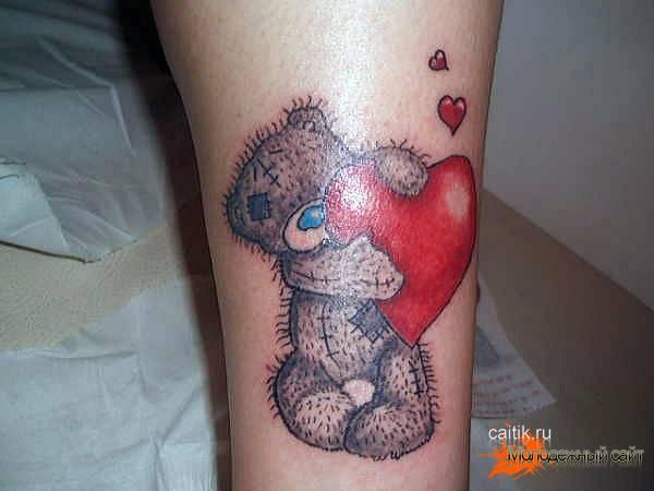мишка теди татуировка